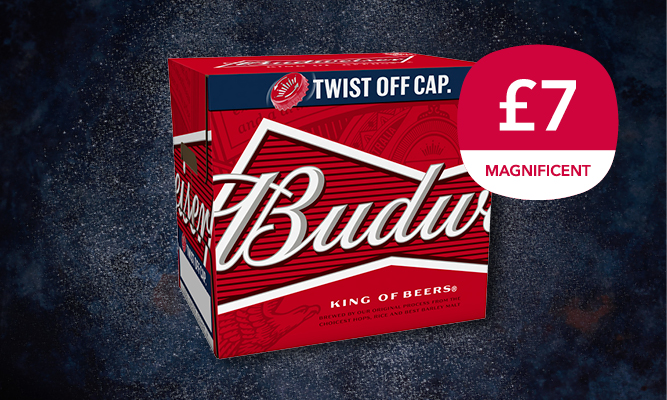 Magnificent 7 drinks offer - Bud