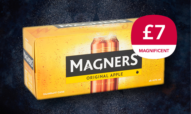 Magnificent 7 drinks offer - Magners