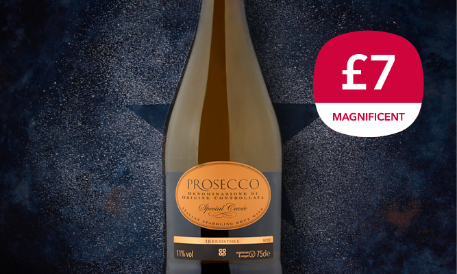 Magnificent 7 drinks offer - prosecco